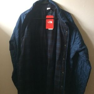 THE NORTH FACE MENS FORT P INSULATED FLANNEL NWT L